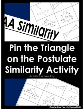 Triangle Similarity Postulates - Task Cards Sort Activity