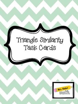 Triangle Similarity Task Cards