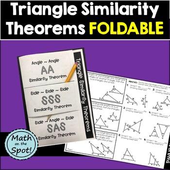 Triangle Similarity Theorems Foldable