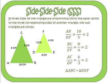 Triangle Similarity Theorems Posters