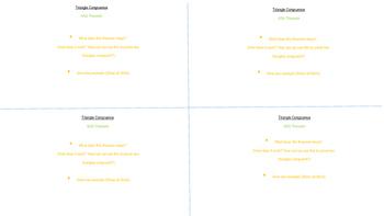 Triangle Similarity vs. Congruence