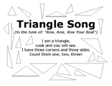 Triangle Song with Outlined Triangles to Color In