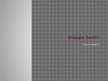 Triangle Sort Game