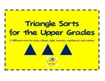 Triangle Sorts for Upper Grades