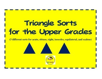 Triangle Sorts for Upper Grades