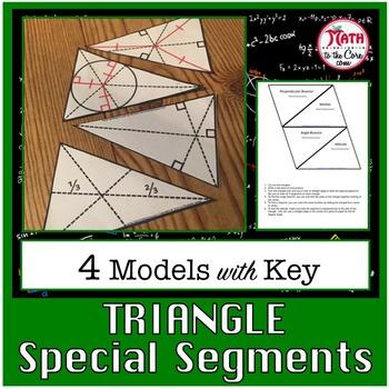 Triangle Special Segments Model