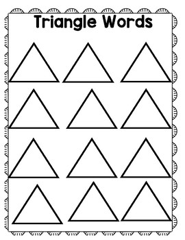 Triangle Spelling
