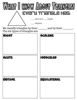 Triangle Study Guide