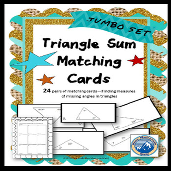 Triangle Sum Matching Card Set