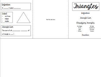 Triangle Sum Mini-Booklet and Activity