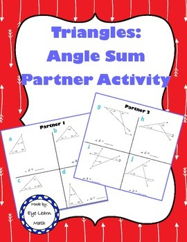 Triangle Sum Partner Activity
