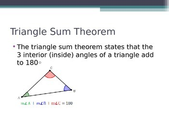 Triangle Sum Powerpoint
