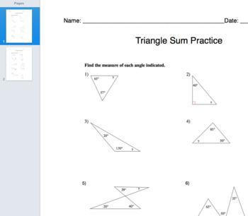 Triangle Sum Practice
