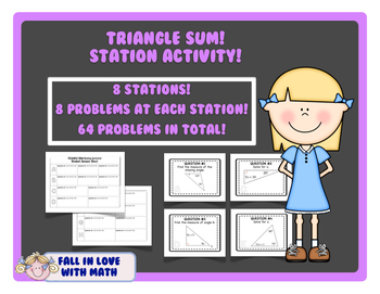 Triangle Sum Station Activity!