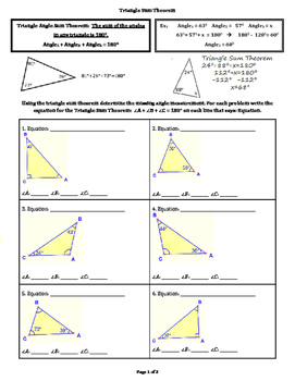 Triangle Sum Theorem