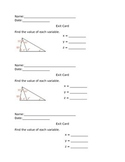 Triangle Sum Theorem Exit Card