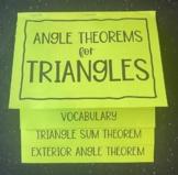 Triangle Sum Theorem & Exterior Angle Theorem (Foldable)
