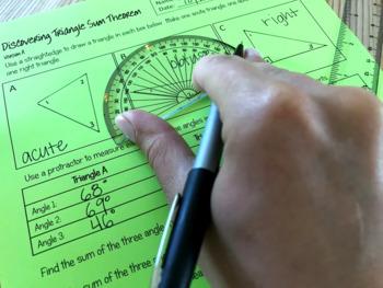 Triangle Sum Theorem Inquir... by Math Giraffe | Teachers Pay Teachers