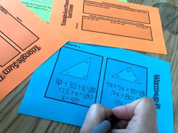 Triangle Sum Theorem Inquiry Activity Lesson Pack