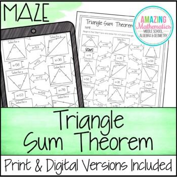 Triangle Sum Theorem Maze