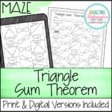 Triangle Sum Theorem Maze
