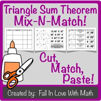 Triangle Sum Theorem Mix-N-Match!