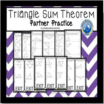Triangle Sum Theorem Partner Practice