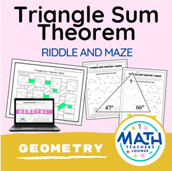 Triangle Sum Theorem  - Puzzle Worksheet