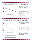 Triangle Sum Theorem and Exterior Angle Theorem Review