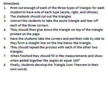 Triangle Sum Theory