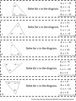8th Grade Triangle Sum & Exterior Angle Theorem Game 8th Grade Math Review