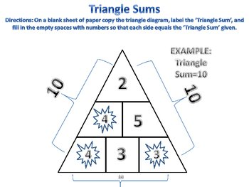 Triangle Sums