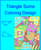 Triangle Sums - Coloring Activity