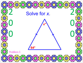 Triangle Sums - WIPE OUT!  Powerpoint Game or Review