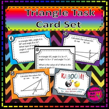 Triangle Task Card Set - Great unit or STAAR Review