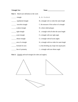 Triangle Test/Review Sheet