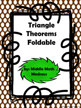 Triangle Theorems Foldable