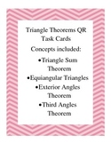 Triangle Theorems QR Task Cards