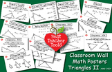 Math Posters, Math Concept Poster, Triangle Theory II Wall Posters, AMB-2004