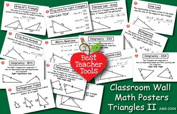 Math Posters, Math Concept Poster, Triangle Theory II Wall