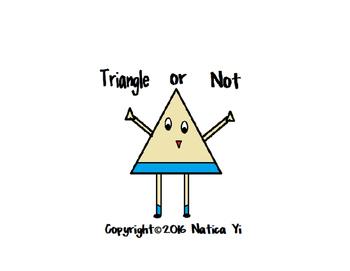 Triangle Trace Color Cut and Paste Graphic Organizer
