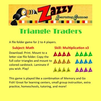 Triangle Traders Folder Game Multiplication x3