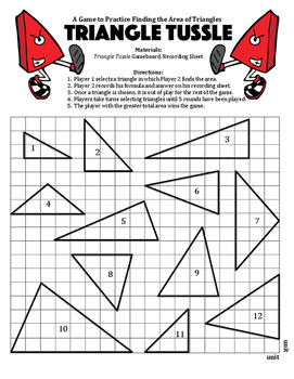 Triangle Tussle - A 2-Player Game to Practice Finding the Area of Triangles