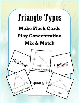 Triangle Types (Concentration/Flash Cards/Mix and Match)