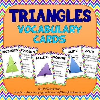 Triangle Vocabulary Cards