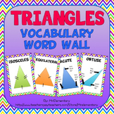 Triangle Vocabulary Word Wall