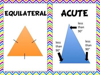 Triangle Vocabulary Word Wall