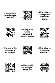Triangle Vocabulary with QR codes