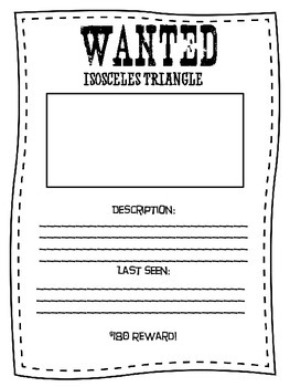 Triangle Wanted Posters
