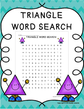 Free Word Search Printable about Triangles